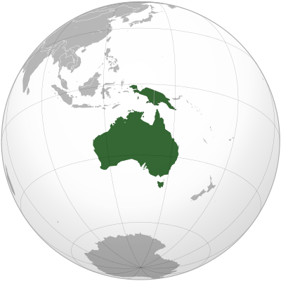 Australia transparent continent. Wikiwand area