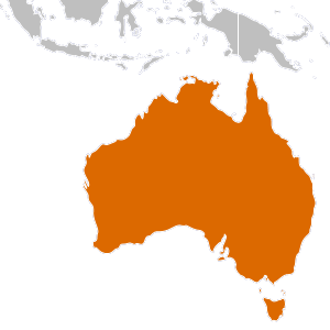 Australia transparent mainland. Country overview map