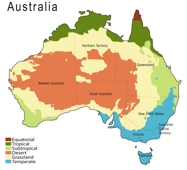 Australia transparent physical. Climate and weather s