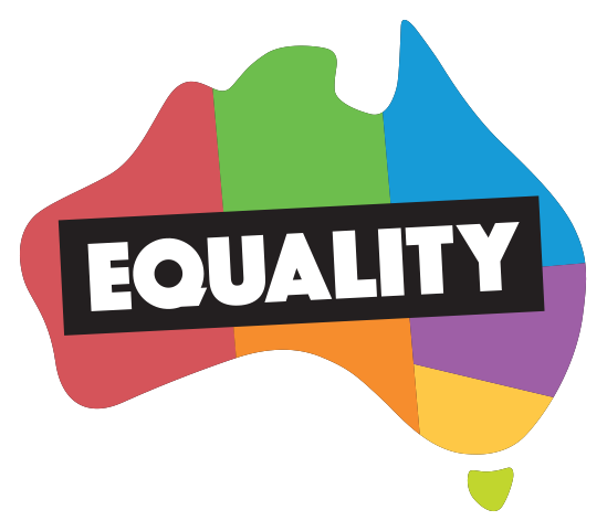Australia transparent political. Yes equality sign the