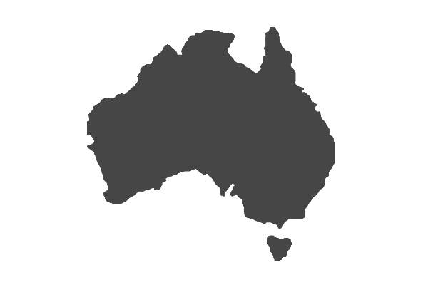 Australia transparent silhouette. Choose your country baxter