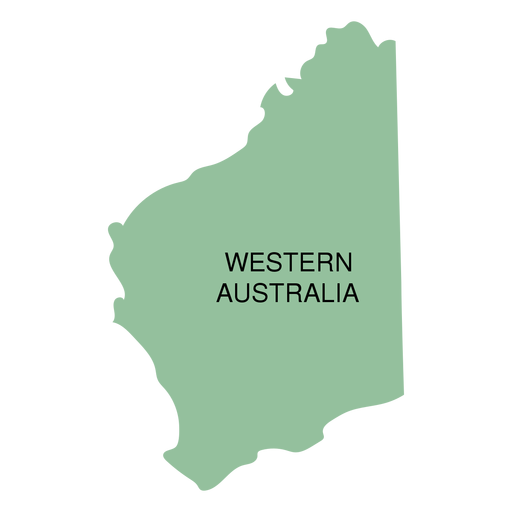 Australia transparent svg. Western state map png