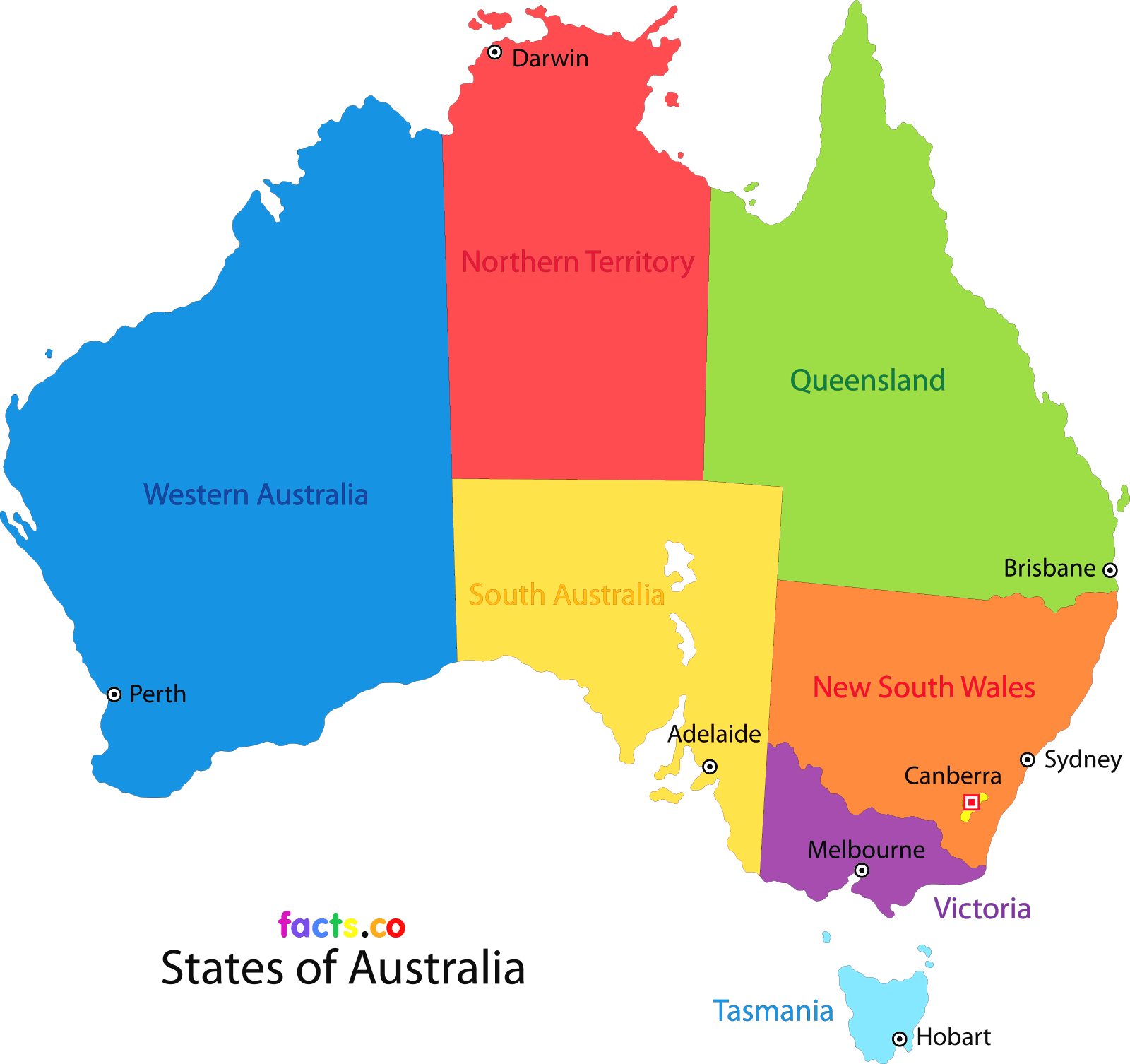 Australia transparent unlabeled. Map of states and