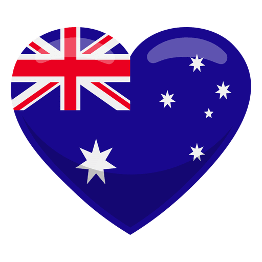 Australia transparent vector. Heart flag png svg
