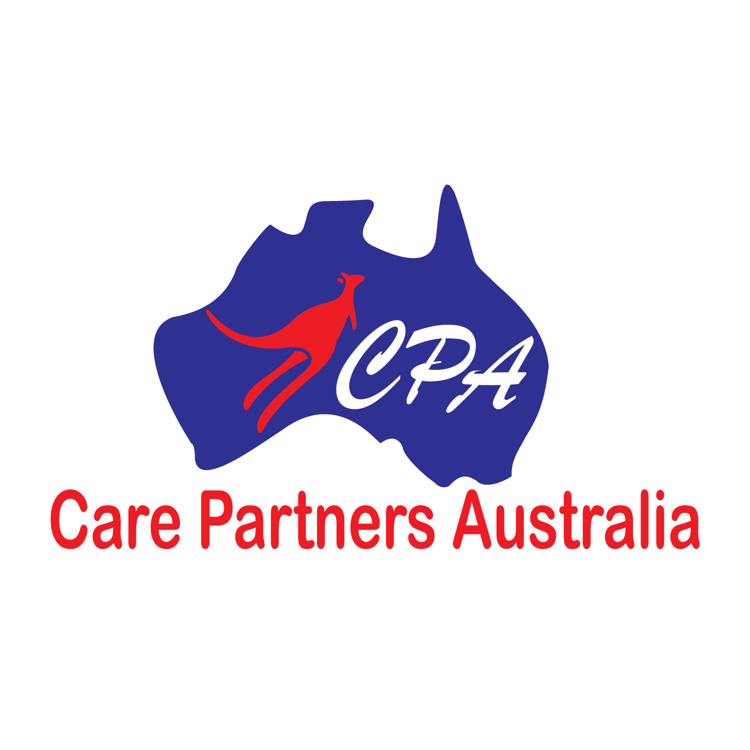 Australia transparent word. Logo design for care