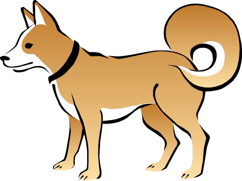 Doggy drawing boxer dog. Australian cattle clipart at