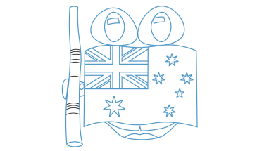 Australian drawing design. How to draw flag
