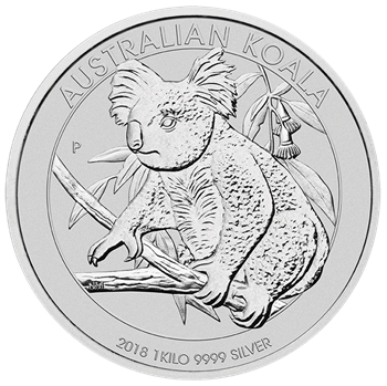 Australian drawing koala. Buy kg silver bullion