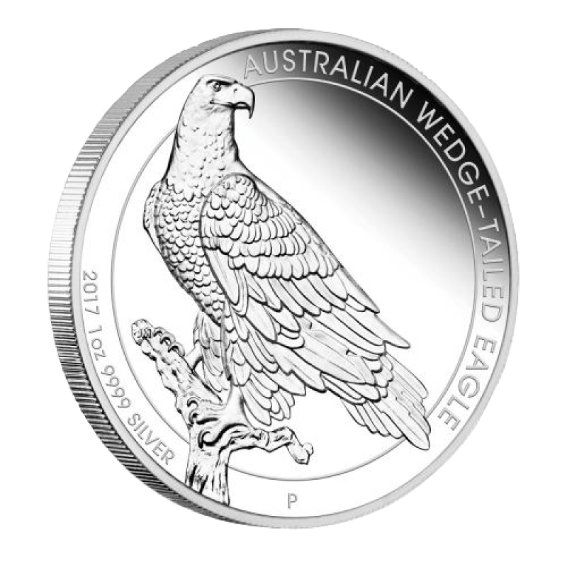 Australian drawing wedge tail eagle. Tailed oz silver proof