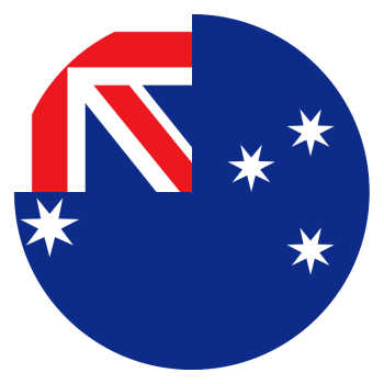 Australian flag png. Australia decal customizable design