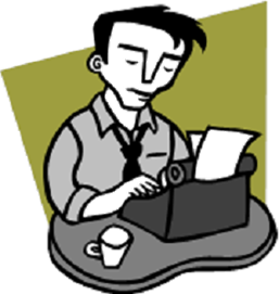 Author clipart. Writing