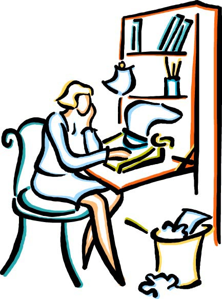 Author clipart desk. Screenwriter panda free images