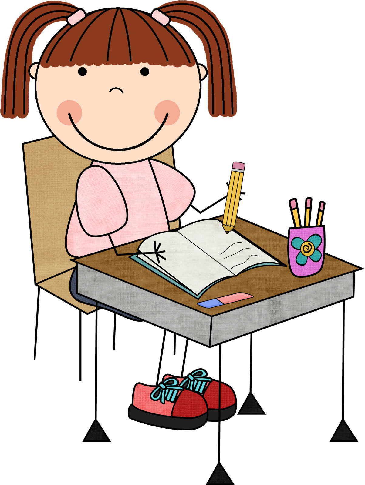 Author clipart desk. Free writing book cliparts