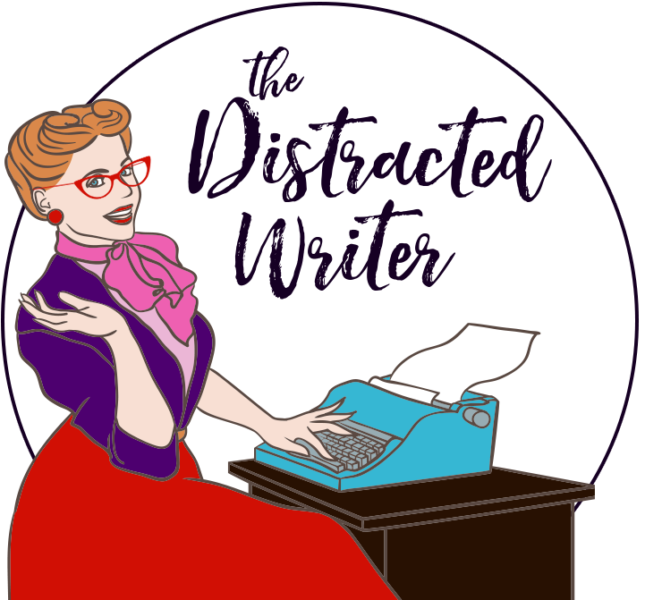 Author clipart female author. The distracted writer mj