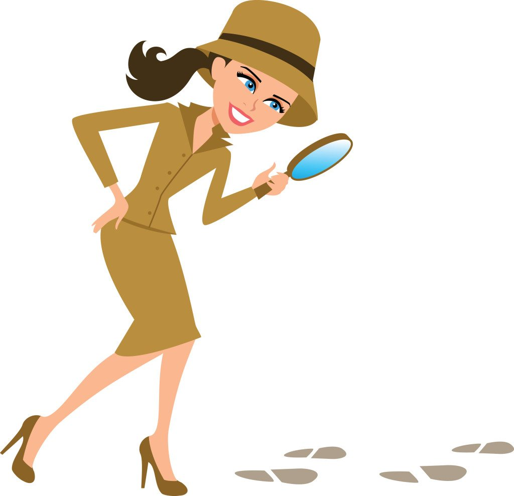 Author clipart female author. Whodunit likely a woman