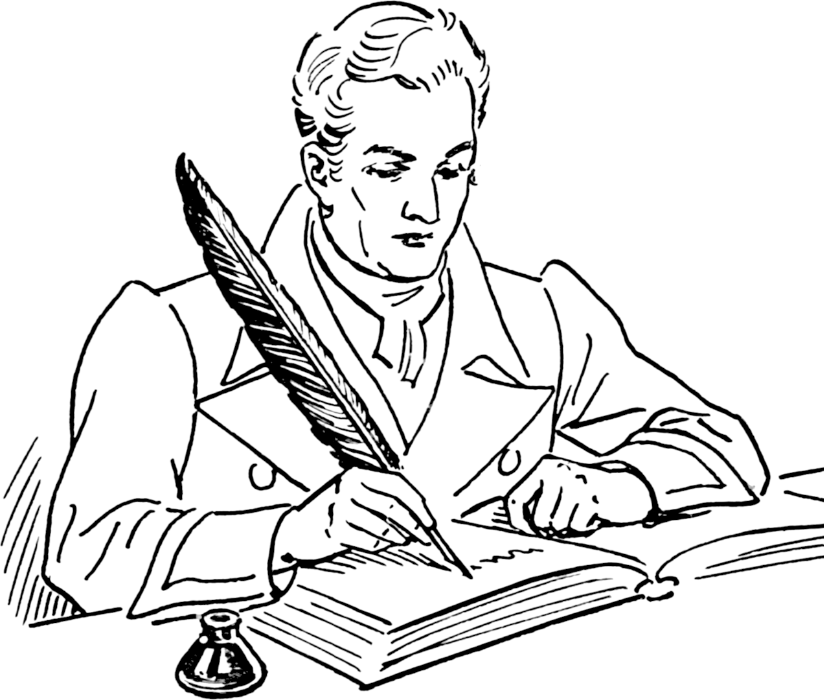 Poetry clipart author at work. The bi writers association