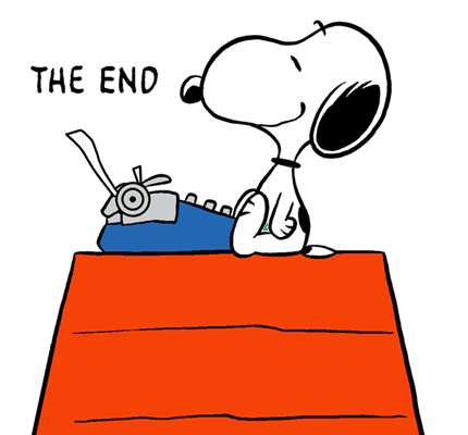Author clipart snoopy. The world famous finishing