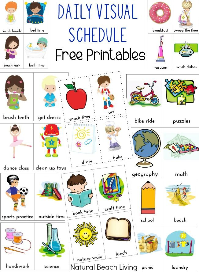 Chore clipart visual cue. Daily schedule for kids