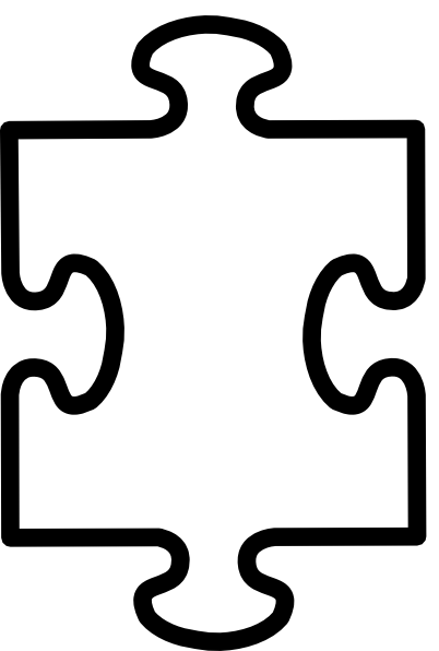 Printable puzzle template best. Pieces clipart image library