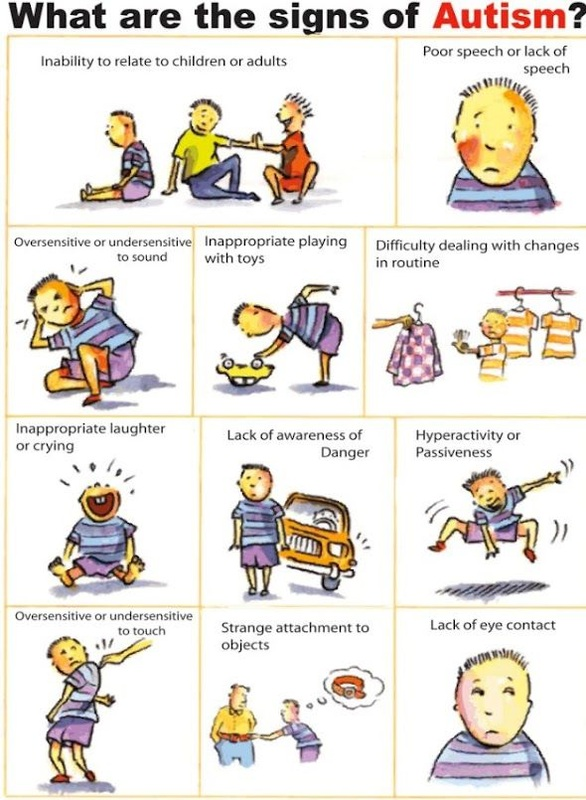 Autism clipart characteristic. Characteristics spectrum disorders of