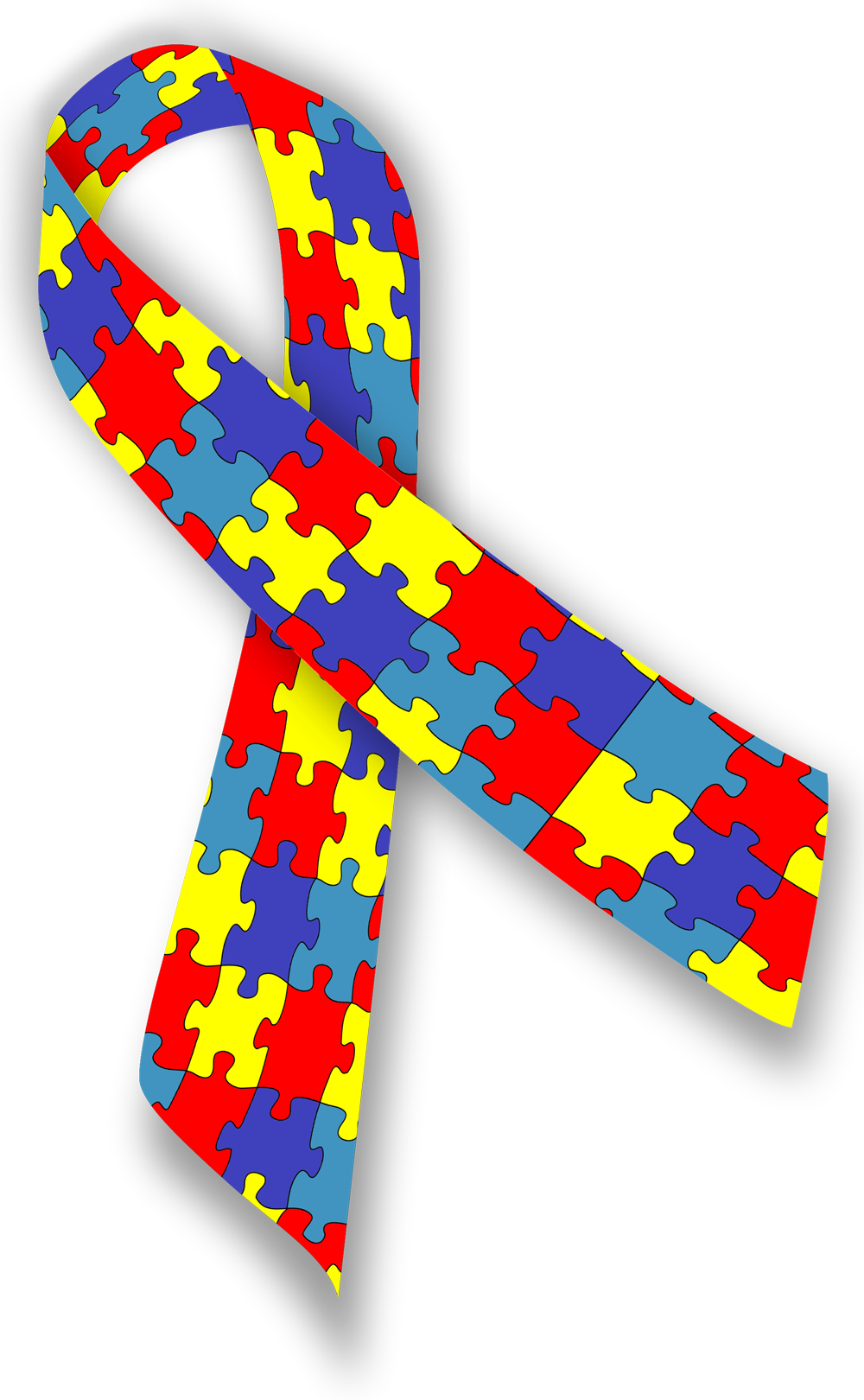 Puzzle transparent autism. Awareness the piece meaning