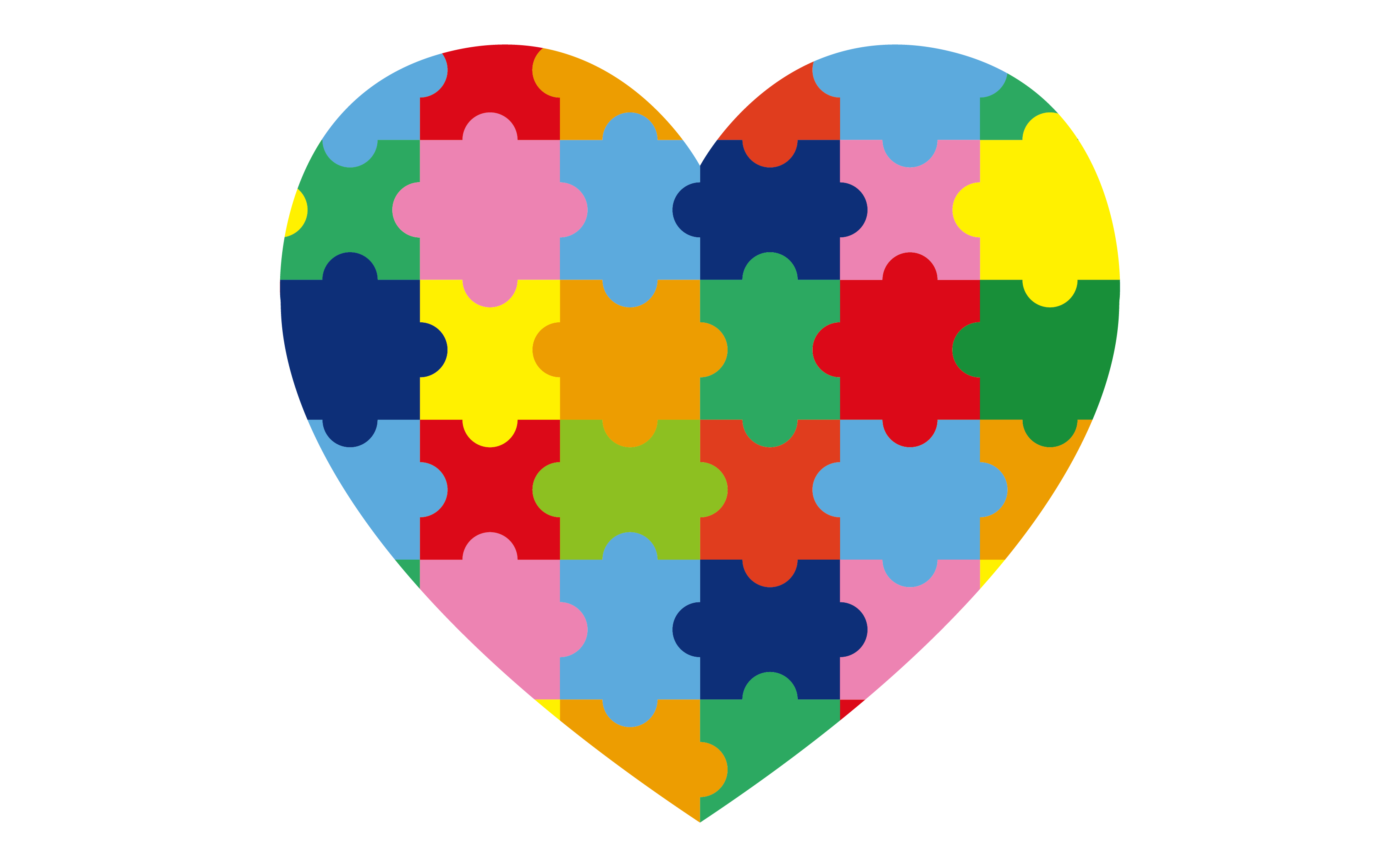Autism vector colorful. Jigsaw puzzle world awareness
