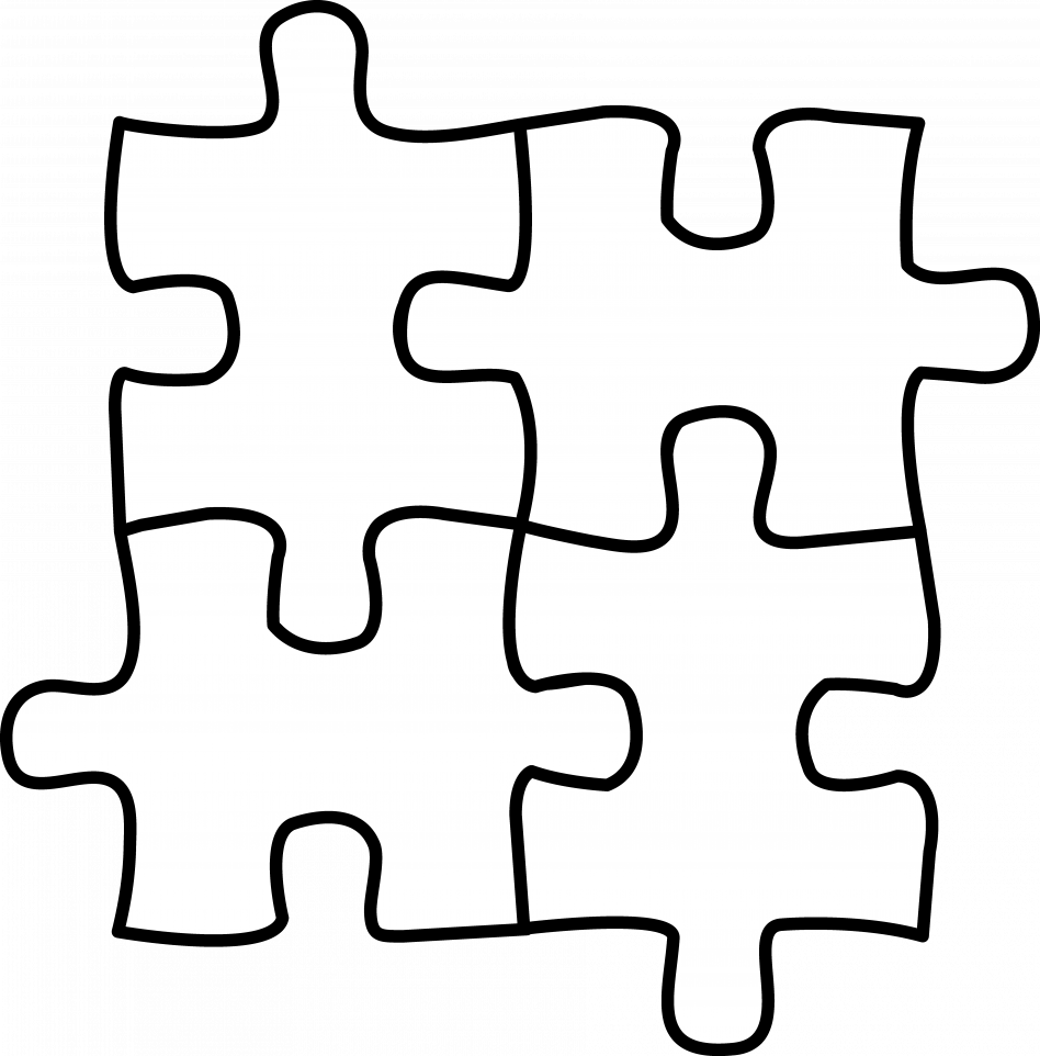 Autism vector jigsaw. Puzzle piece coloring sheets