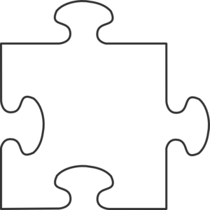 Games vector puzzle. White border piece top