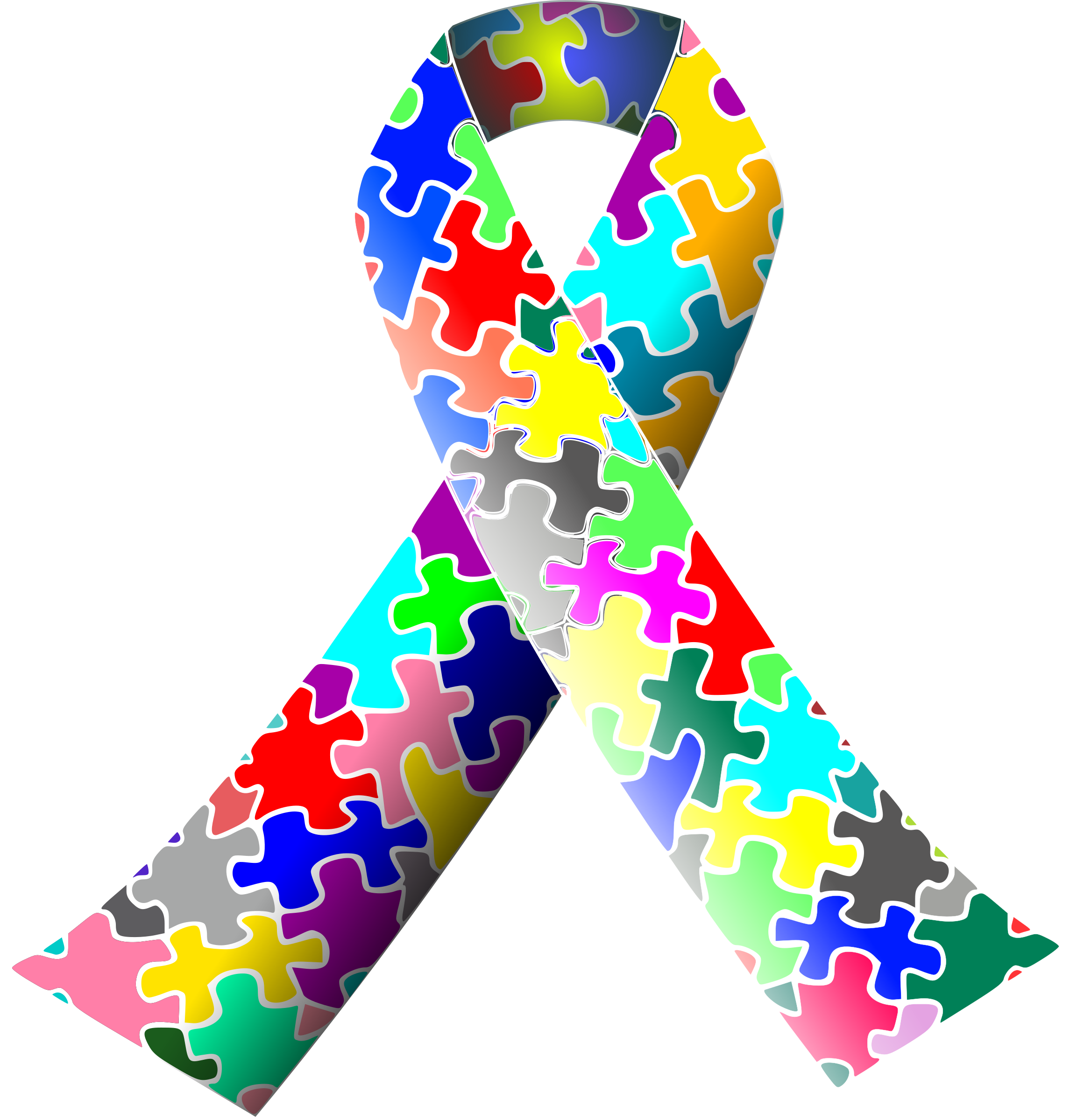 Autism vector svg. Puzzle ribbon icons png