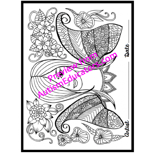 Autistic drawing childhood. Occupational therapy coloring printables