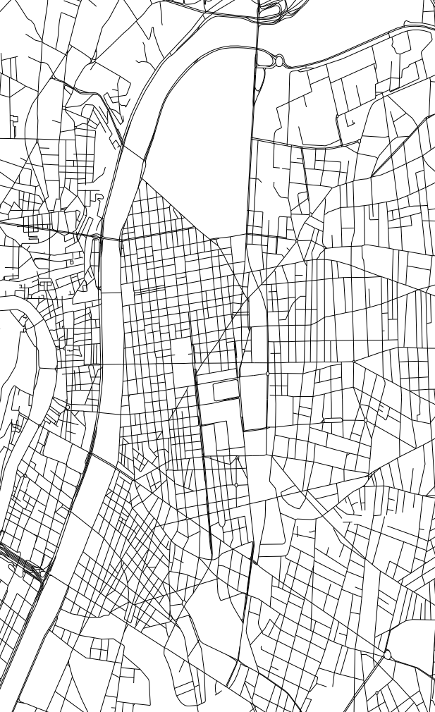 Autistic drawing city map. Scale how to fix