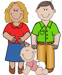 Family activities fun ideas. Siblings drawing father mother banner library stock