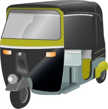 Gray rickshaw. Free auto frees clipart