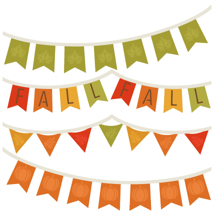 Autumn banner png. Fall banners svg cutting
