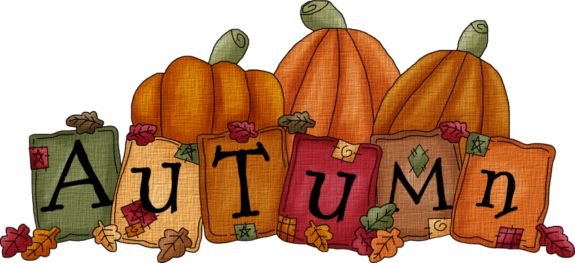 Autumn clipart autumn word. The clip art fall