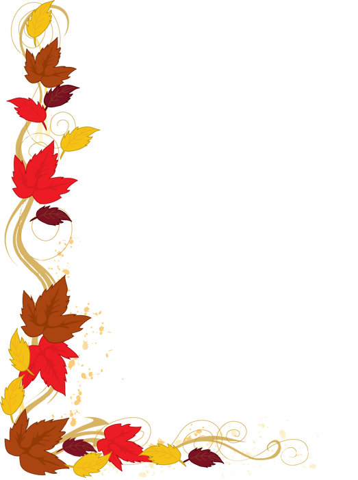 Thanksgiving borders png. Fall leaves border clipart