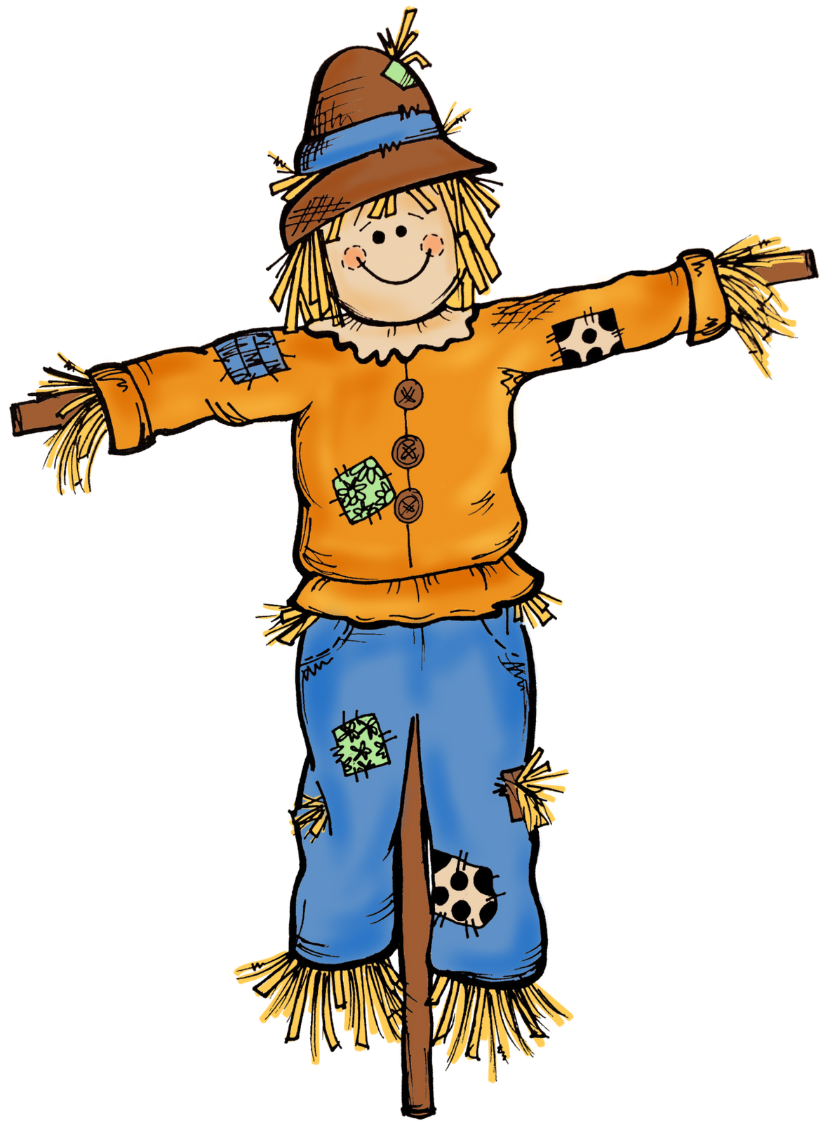 Fall scenes clip art. Scarecrow clipart clipart free stock