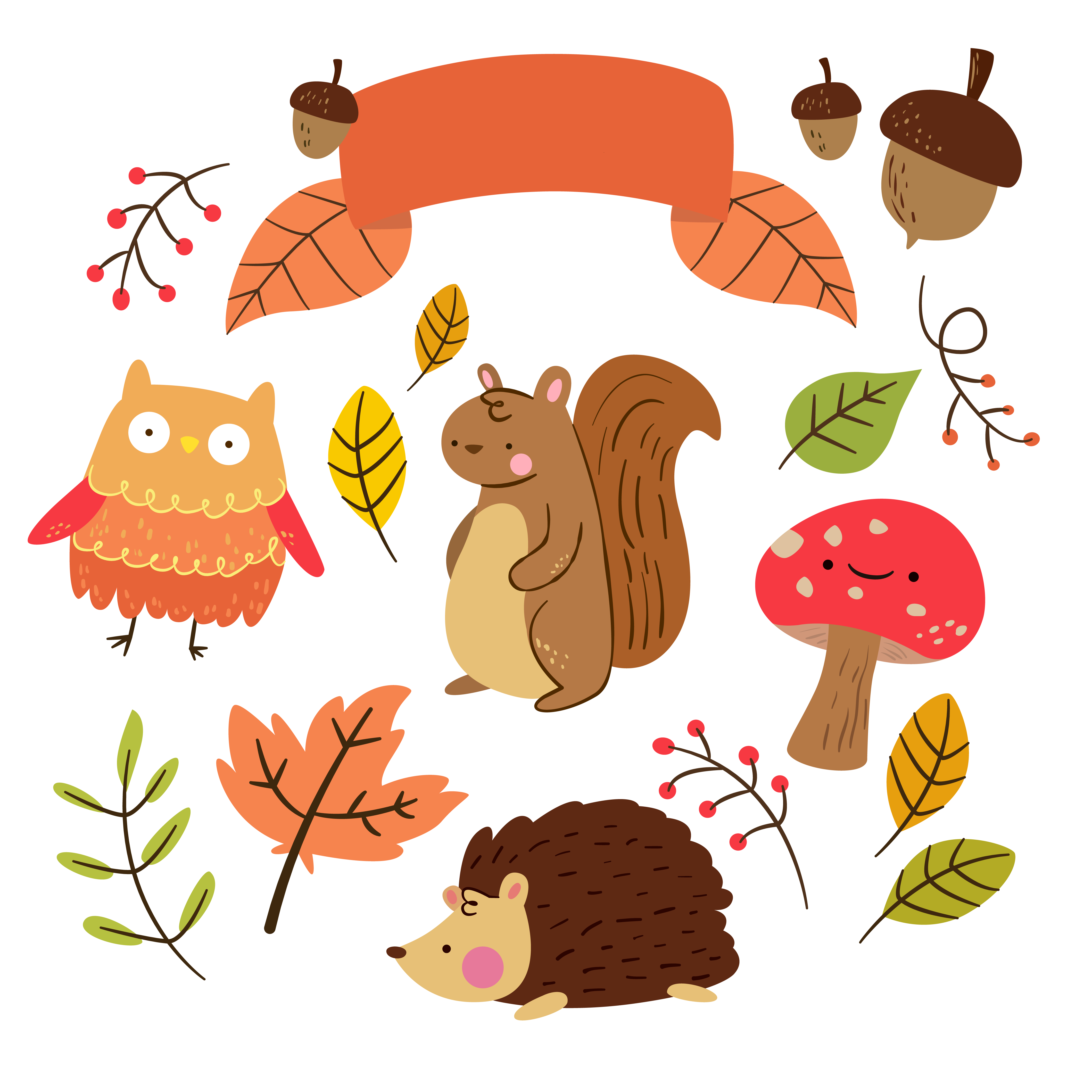 Planner clipart. Free critter autumn stickers