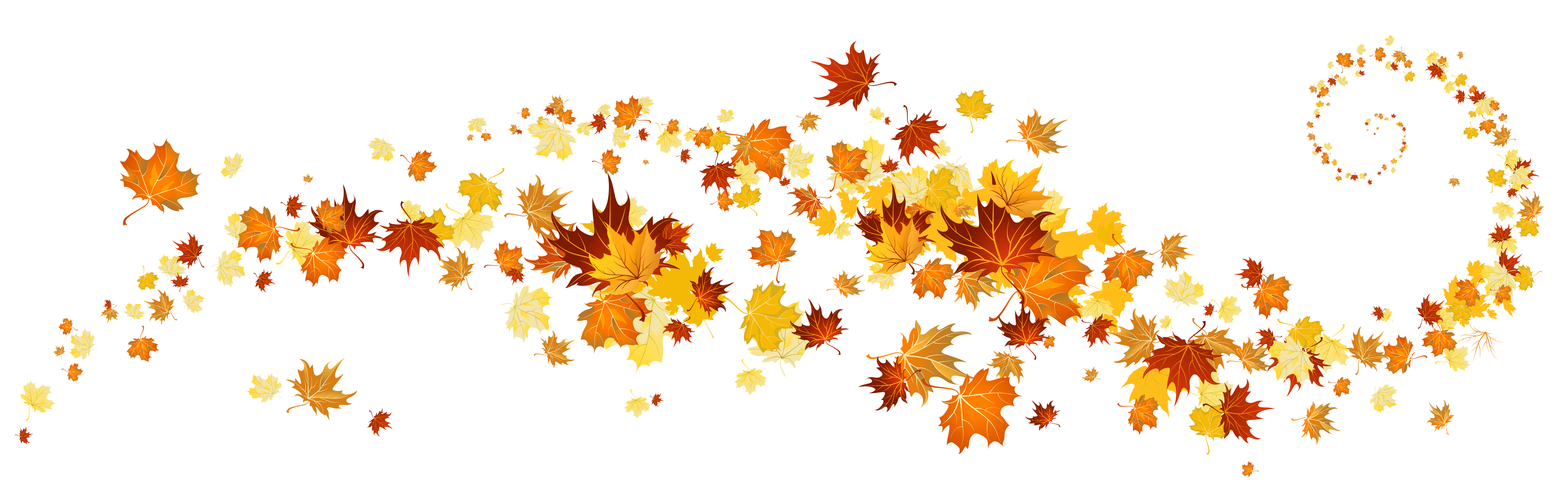 Autumn leaves border png. Decoration clipart gallery yopriceville