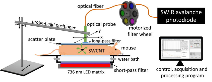 Avalanche drawing diagram. Schematic of optical scanner