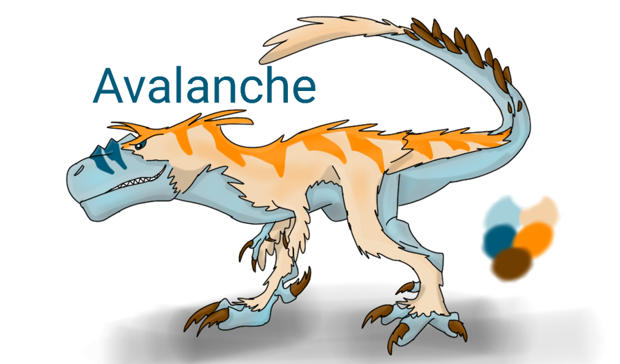 Avalanche drawing mountain. The king ref sheet