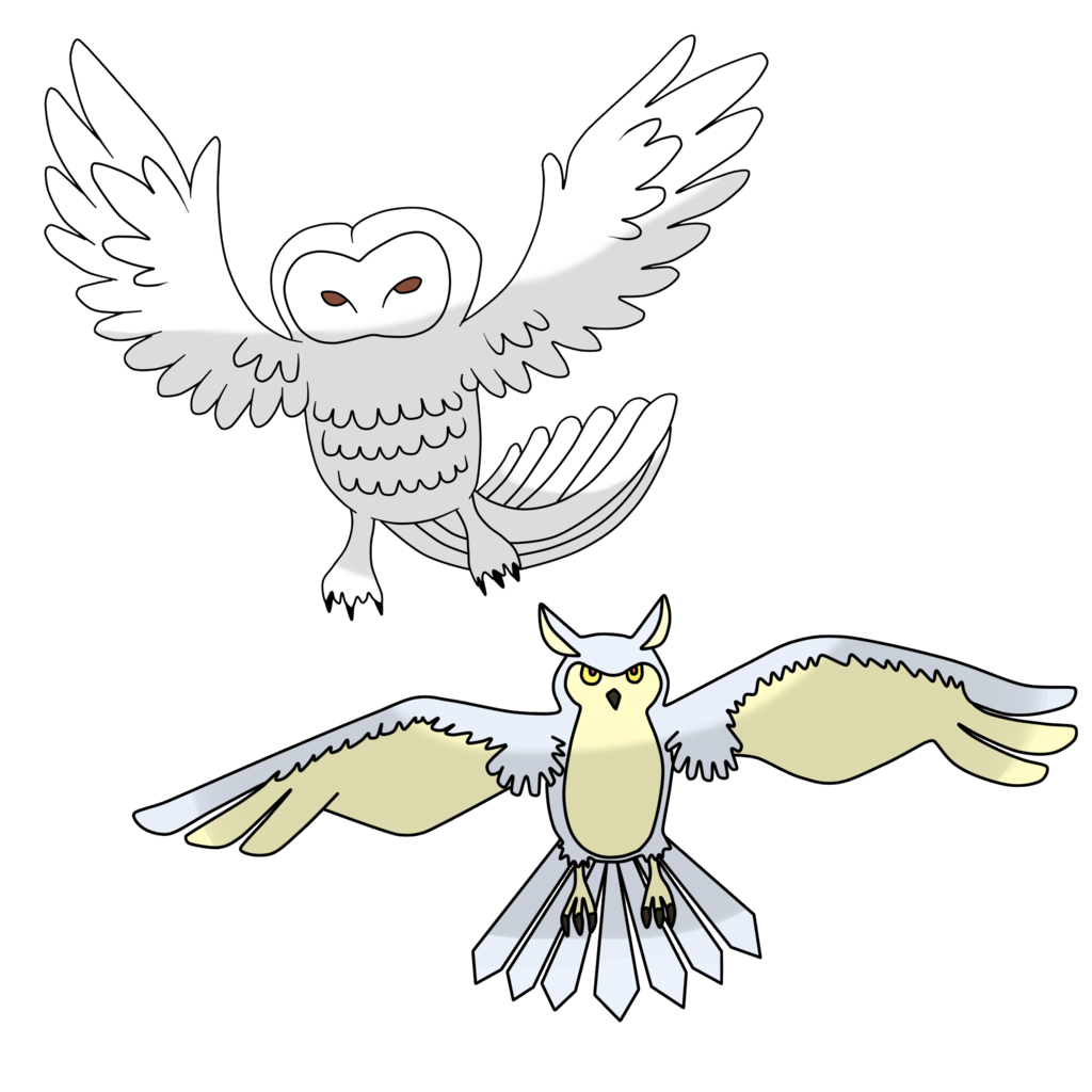 Avalanche drawing owl. Hailhowl by the