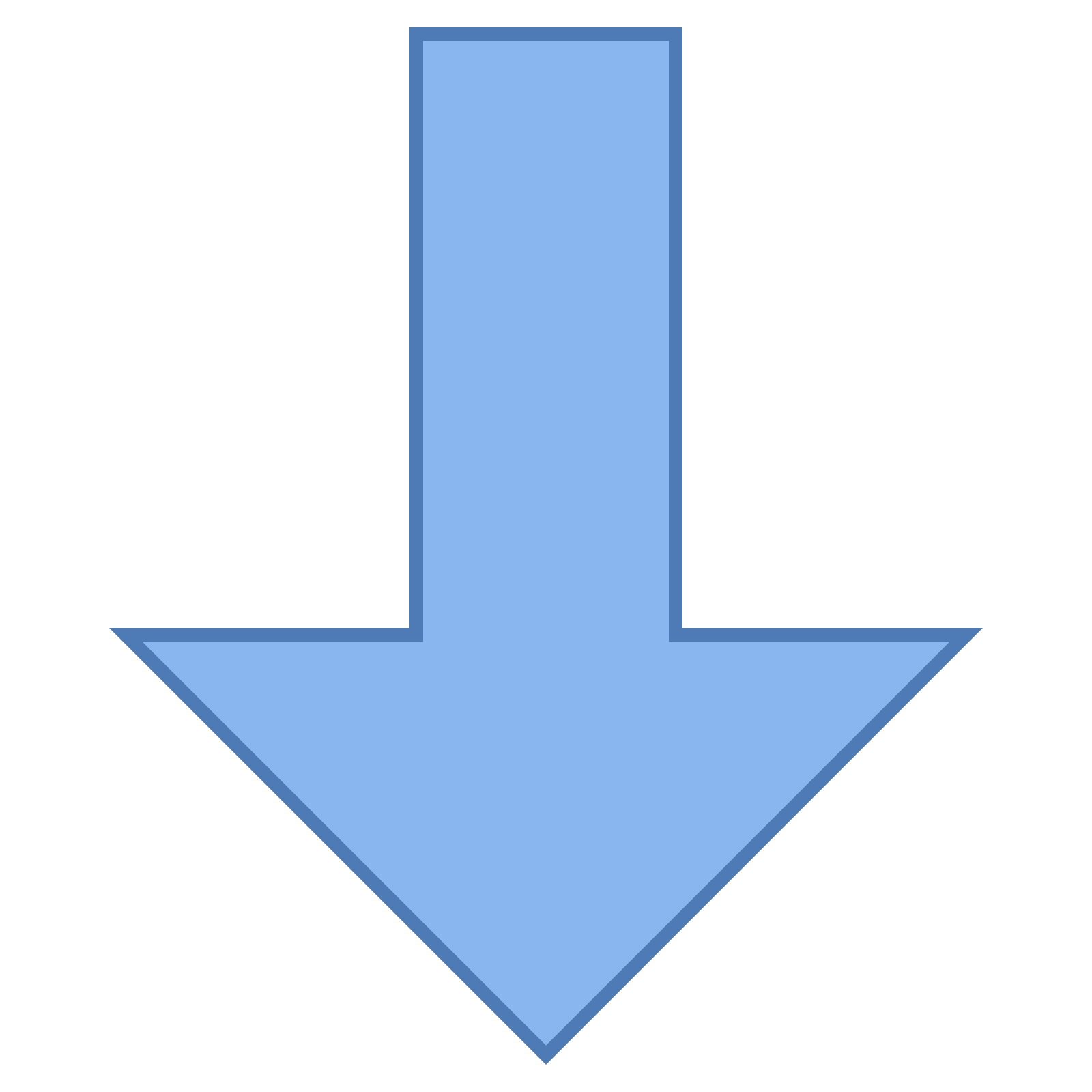 Arrows pointing down png. Thick arrow icon