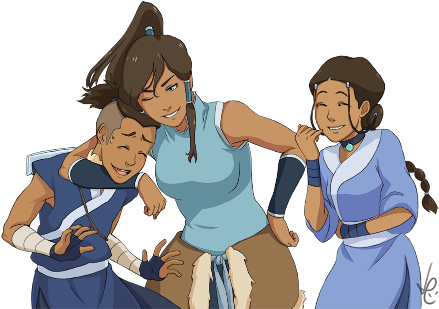Korra transparent legend. Download aang sokka katara