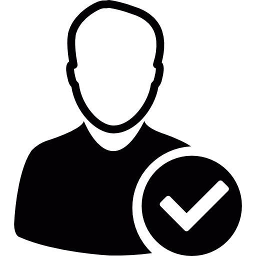 Avatar with check mark png. User free technology icons