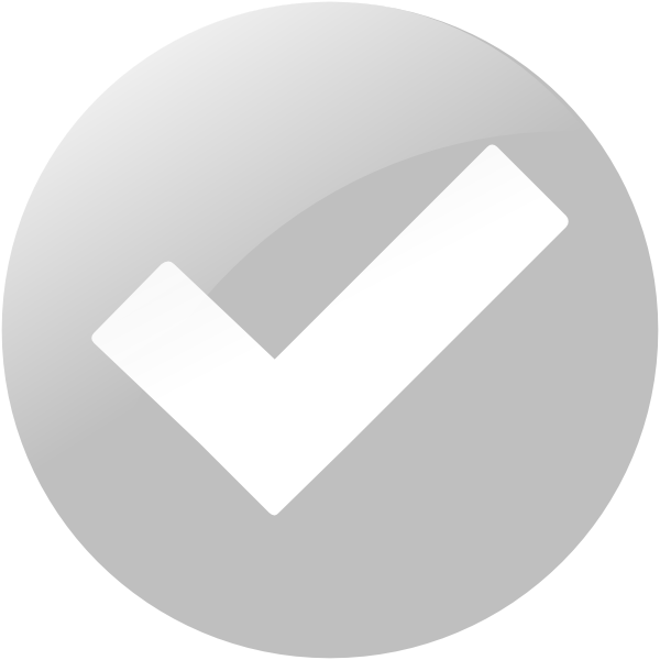 Avatar with check mark png. Simple grey button clip