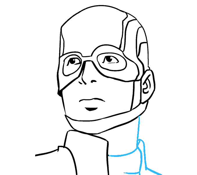 Chin drawing. How to draw captain clip art freeuse stock