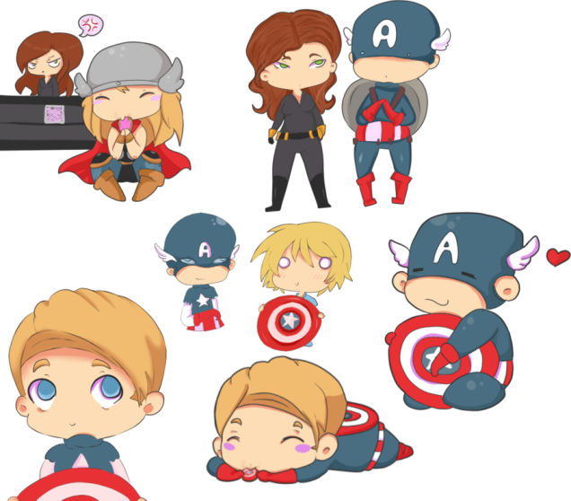 Avenger drawing baby. Mighty cute avengers the