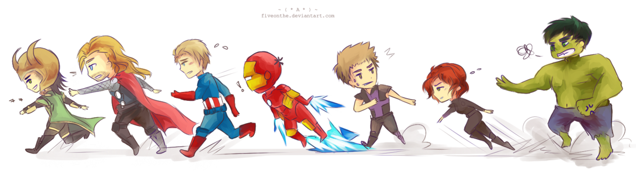 Avenger drawing baby. Avengers run by fiveonthe