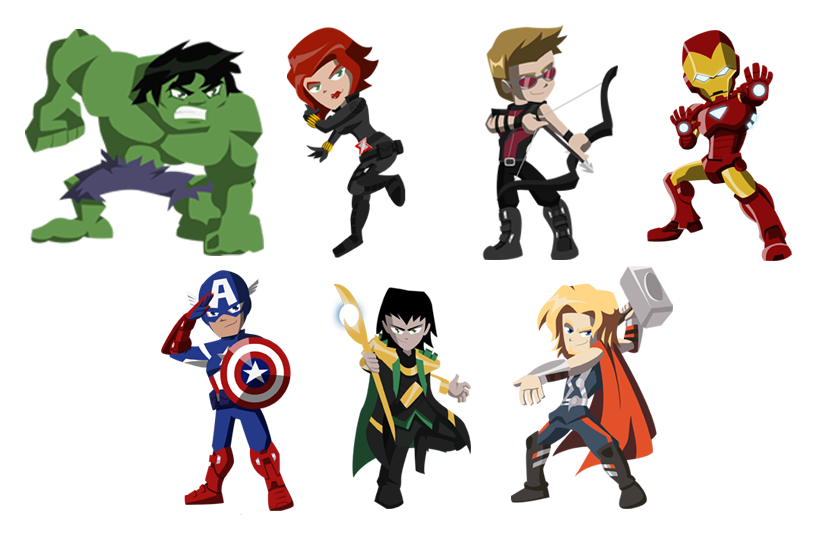 Avenger drawing cartoon. Avengers by nightlokison on